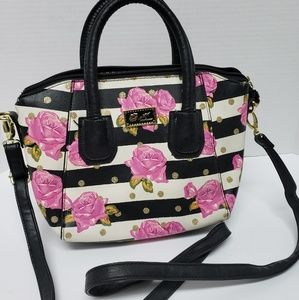 Betsey Johnson floral small tote